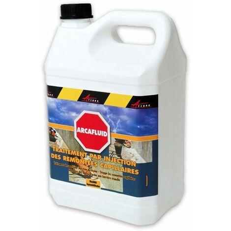 Traitement par injection des murs humides - ARCAFLUID - ARCANE INDUSTRIES - Liquide- Transparent - 5 L
