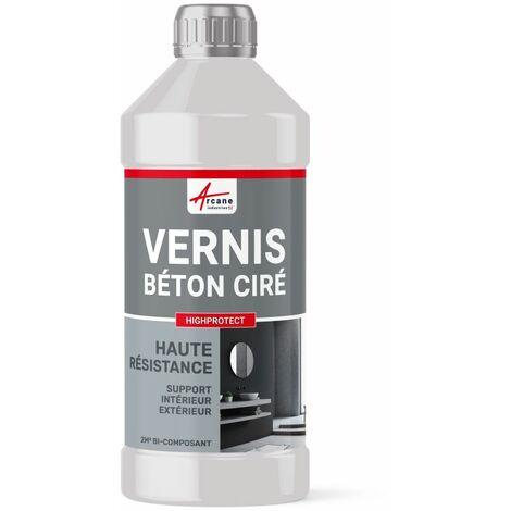 Vernis de protection béton ciré - HAUTE RESISTANCE - HIGHPROTECT - ARCANE INDUSTRIES - Transparente - Liquide - kit 2 m² (2 couches)