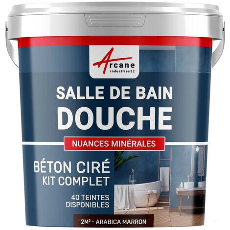 KIT BÉTON CIRÉ - MURS SALLE DE BAINS DOUCHE ITALIENNE - ARCANE INDUSTRIES - Arabica - Marron - kit 2 m² (2 couches)