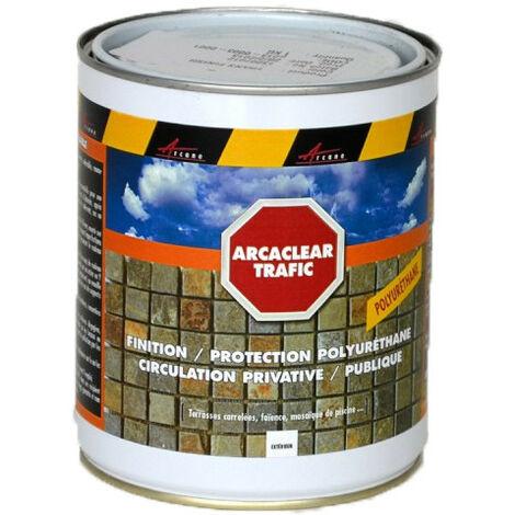 Vernis de protection circulable pour béton et carrelage - ARCACLEAR TRAFIC - ARCANE INDUSTRIES - Transparente - Finition Brillante - 1 Kg