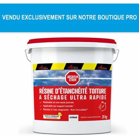 Résine Étanchéité Coloré Toit non circulable - Revêtement étanche - Séchage rapide - Applicable en toute saison : ARCAFILM XTREM - ARCANE INDUSTRIES - Gris - 25 Kg (jusqu'a 17m² pour 2 couches)