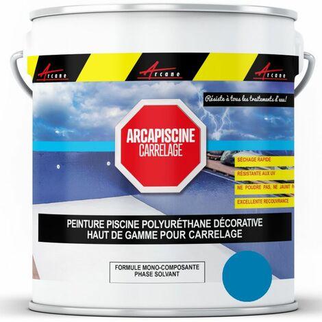 Peinture Piscine Carrelage Polyuréthane - ARCANE INDUSTRIES - Bleu ciel ral 5015 - 20 kg (jusqu'à 65m² pour 2 couches)