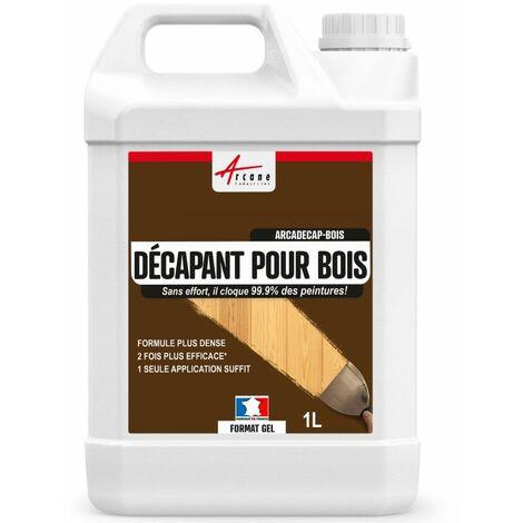 Décapant pour Bois - Produit décapant peinture, vernis - ARCADECAP BOIS - ARCANE INDUSTRIES - Gel - 1 L