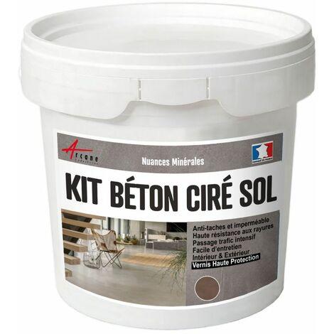 Béton Ciré Sol en Kit - Primaire et vernis de finition inclus - ARCANE INDUSTRIES - Marron glace - kit 5 m2 (2 couches)