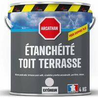 Etanchéité Toiture plate, toit plat et toit terrasse : Membrane Elastique Colorée - Résine Polyuréthane ARCATHAN - ARCANE INDUSTRIES - Gris - 4 Kg