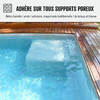 Enduit piscine d'étanchéité hydrofuge bassin béton cuvelage mortier imperméable ARCACIM PISCINE - ARCANE INDUSTRIES - Gris - 5 Kg