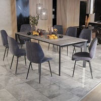 Selsey Kayko - Extendable Table - Concrete Grey - 180(260)x90 cm - industrial