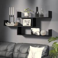 Selsey Kassi - 3 Level Floating Shelf - Black