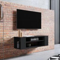 Selsey Weri - Modern Floating TV Stand - 100 cm - Black