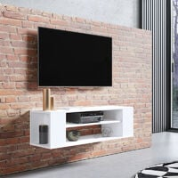 Selsey Weri - Modern Floating TV Stand - 100 cm - White