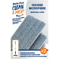 Recharges Duo Mop Cleaner x2 - Recharge pour le balai Duo Mop Cleaner - Housse microfibre