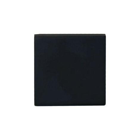 Rosaces carrées borgnes - aluminium anodisé noir x2