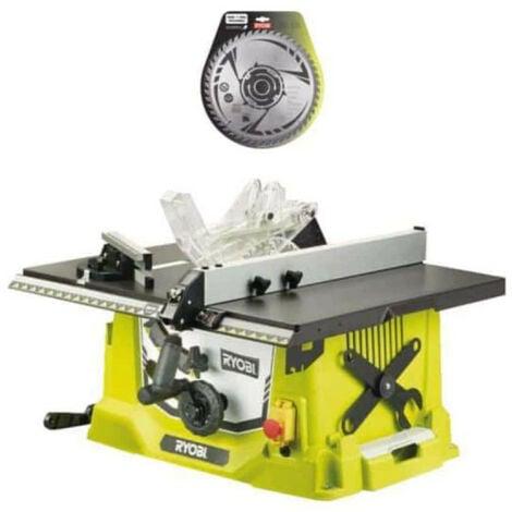 Pack RYOBI Scie sur table électrique 1800W 254mm RTS1800-G - lame carbure pour scie à coupe d'onglets 254mm SB254T48A1