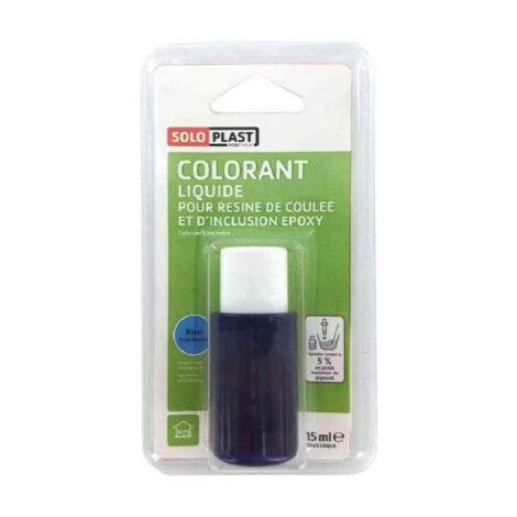 Liquide colorant pour résine SOLOPLAST 15ml bleu translucide - Bleu