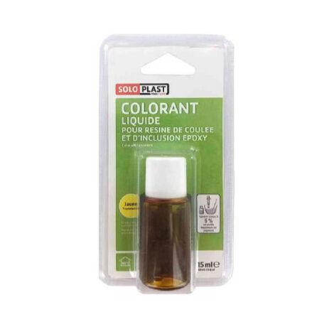Liquide colorant pour résine SOLOPLAST 15ml jaune translucide - Jaune