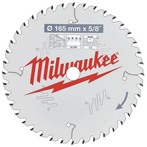 Lame scie circulaire MILWAUKEE 40 dents 1.6x165mm 4932471312