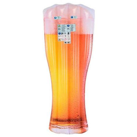 Matelas de plage gonflable verre de bière - 180x75 cm