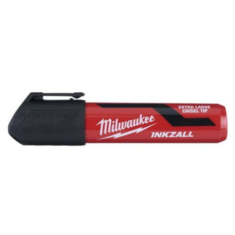 Marqueur pointe biseautée MILWAUKEE XL - Noir Inkzall 4932471558
