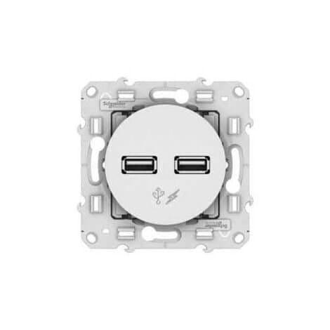 Prise murale double USB Odace Schneider Electric