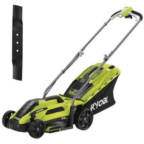 Pack RYOBI Tondeuse électrique 1300W Coupe 33cm RLM13E33S - Lame de tondeuse électrique 33cm RAC420