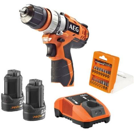 Perceuse visseuse AEG 12V - 2 batteries 2.0Ah - 1 chargeur BBS12C2-202BKIT1
