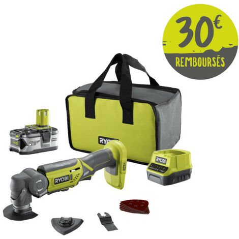 Outil multifonctions RYOBI 18V OnePlus - Batterie et chargeur rapide - R18MT-140S