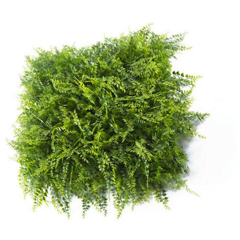 Mur végétal JET7GARDEN 4 plaques feuillage artificiel fougères - 1m2 - vert - Vert