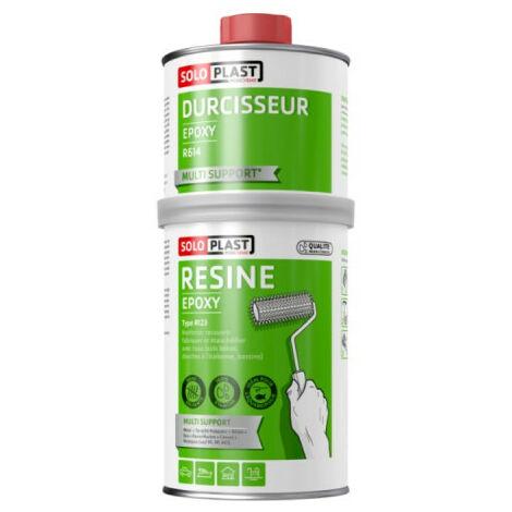 Résine epoxy type R123 avec durcisseur R614 Soloplast 1 KG