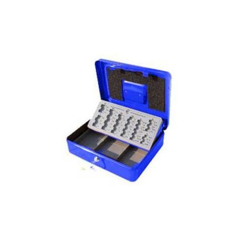 Caissette à monnaie euro bleu Stark PE01 300x90x240mm