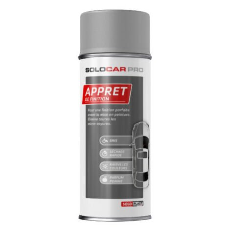 Apprêt de finition aérosol Solocar Pro 400ml - Gris