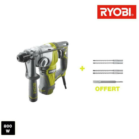 Perforateur burineur RYOBI SDSPLUS 800W - 5 forets SDSPLUS RSDS800-KA5