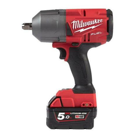 Boulonneuse à chocs MILWAUKEE FUEL M18 FHIWP12-502X - 2 batteries 18V 5.0Ah - 1 chargeur M12-18FC 4933459693