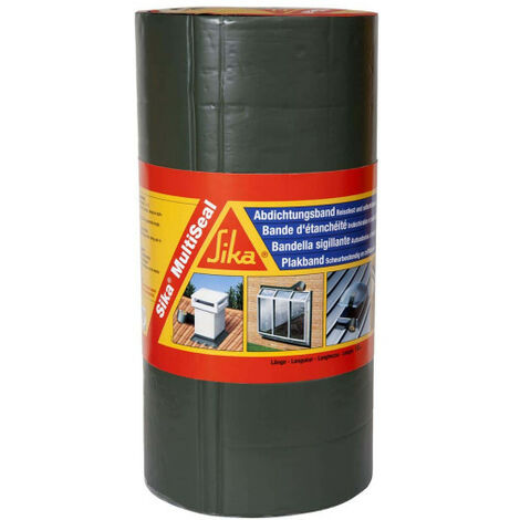Bande d'étanchéité bitumineuse SIKA SikaMultiSeal - Gris - 225mm x 10m - Gris