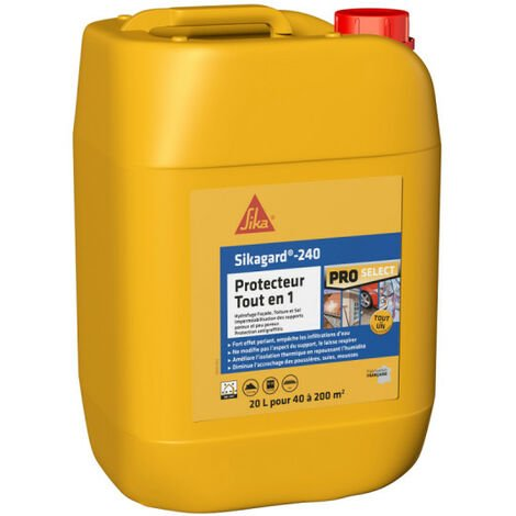 Protection hydrofuge SIKA Sikagard Protection Tout en 1 - 20L - Jaune