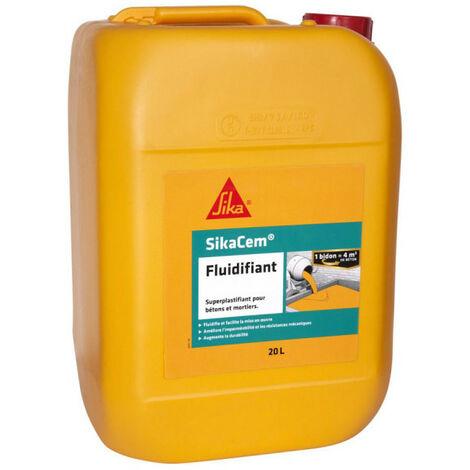 Superlastifiant haut réducteur d'eau SIKA SikaCem Fluidifiant - 20L - Marron