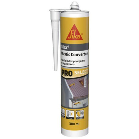 Mastic butyl SIKA Mastic Couverture - Gris - 310ml - Gris