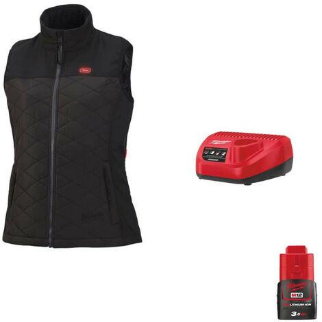 Veste chauffante Milwaukee sans manche femme M12 HBWPLadies-0 Taille L 4933464805 - Chargeur de batterie 12V M12 C12 C - Batterie M12 12V 3.0Ah - Noir