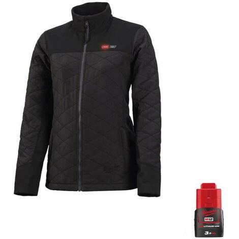 Veste chauffante Milwaukee femme M12 HJPLADIES-0 Taille XL 4933464343 - Batterie M12 12V 3.0Ah - Noir