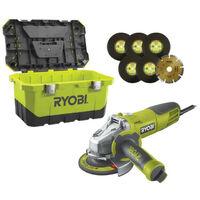 Meuleuse RYOBI d'angle 1010W 125mm - 1 coffret de rangement RAG1010-125TA6