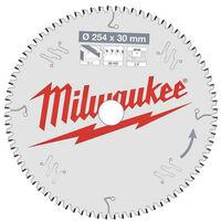 Lame scie circulaire MILWAUKEE pour scie à onglet 80 dents 3x254mm 4932471318