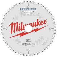 Lame scie circulaire MILWAUKEE pour scie à onglet 60 dents 2.4x216mm 4932471317