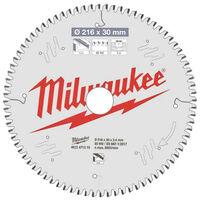 Lame scie circulaire MILWAUKEE pour scie à onglet 80 dents 2.4x216mm 4932471319