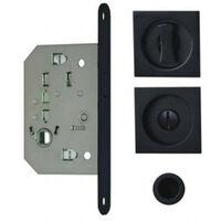 Kit cuvettes carrées pour portes coulissantes - Condamnation - Noir