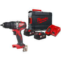 Perceuse à percussion Brushless MILWAUKEE M18 BLPD2-503X - 2 batteries 18V 5.0Ah - 1 chargeur - 4933471331
