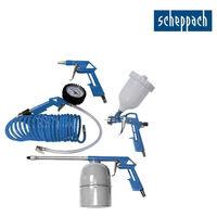 Pack SCHEPPACH - Compresseur 50L - 2200W - HC53DC - Ensemble de 5 accessoires à air comprimé - 3906101704