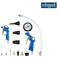 Pack SCHEPPACH - Compresseur 50L - 2200W - HC53DC - Ensemble de 13 accessoires à air comprimé - 7906100710