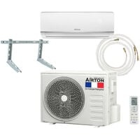 Pack Climatiseur reversible AIRTON - A Poser Soi-meme - 2500W Readyclim 4M - Support mural - 409730SM