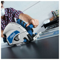 Pack SCHEPPACH Scie Plongeante - 210mm - 1600W - PL75 - Rail de guidage - 1400mm - 3 lames - 24-48-60 dents