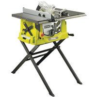 Scie sur table électrique RYOBI 1800W 254mm - piètement rétractable et extension - RTS1800ES-G