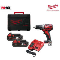 Perceuse visseuse MILWAUKEE M18 BDD-202X - 2 batteries 18V 2.0Ah - 1 chargeur M12-18C 4933446195